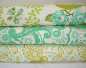 Heather Bailey Up Parasol Free Spirit 3 fat quarters CHARTREUSE colorway