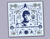 Star Trek Spock parody pillow sampler - Cross stitch PDF pattern