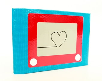 Etch-a-Sketch Duct Tape Wallet - by jDUCT