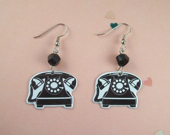 Retro Telephone Earrings
