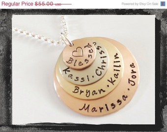 Blessed Family Necklace - Family of Faith Jewelry - Personalized