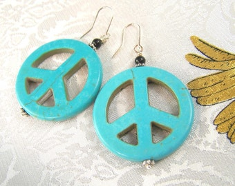 Peace to You Turquoise Earrings