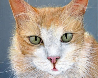 Custom Pet Portrait Pet Painting Dogs Cats Horses Art Artist Hand Painted Aniaml Art Pets Sharon Lamb