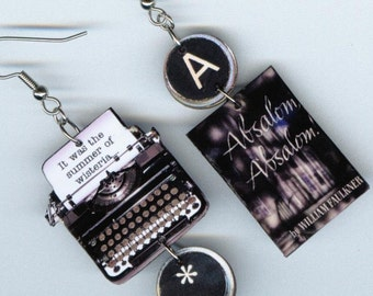 book cover Earrings Absalom Absalom vintage typewriter quote