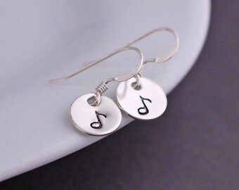 Music Note Earrings, Music Jewelry, Sterling Silver Music Lover Gift, Musician Gift