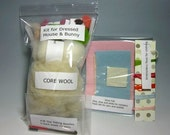 NO INSTRUCTIONS Fiber and Textile Art Supplies Needle Felting Felted Kit Wool Roving Wool Fleece Needlecraft Art No Instructions