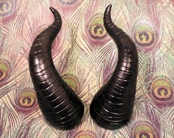 Wicked Black Pearl Maleficent Costume Horns - Made to Order
