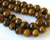 12mm Tiger Eye Beads, Tiger Eye Gemstone Beads (16)