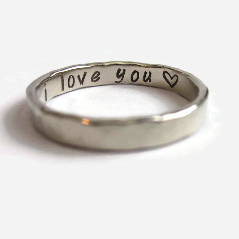 Hidden Message Ring Heart
