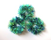 Cat and Ferret Toys Recycled Rings Toy Blue Green