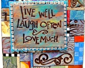 Live Laugh Love Polymer Clay Tile Mini-Mosiac MM40027