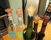 Hand turned Hardwood Bottle Stopper/ Wood turned Bottle Stoppers/ Wine Bottles/Bottle Stoppers/Oil and Vinegar Bottle Stoppers/ Bar item/
