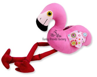 Flamingo Toy Sewing Pattern PDF INSTANT DOWNLOAD