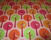 Riley Blake Designs Pattern C7052 Summer Song by My Mind's Eye Birds Trees Pinks Oranges Greens