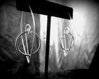 Orbit Earrings, Sterling Silver