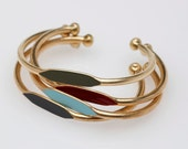 Bestselling 3 Bracelet Gift Special Hand Painted Brass ID Bracelet Bangle Cuffs