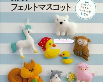 Felt Animal Mascots n3747 - Japanese Craft Book
