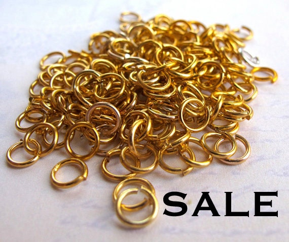 LAST Set- Gold And Silver Anodized Aluminum Jump Rings (20 Grams - approx. 720x) (F544) SALE - 50% off