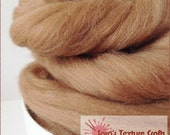 Merino 64s (21 Micron) Top for Felting, Dreads, Spinning - Light Brown (10g, 25g, 50g, 100g)