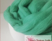Merino 64s (21 Micron) Top for Felting, Dreads, Spinning - Pastel Green (10g, 25g, 50g, 100g)