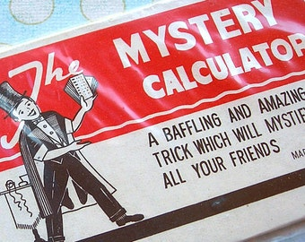 Vintage Magic Trick New in Package MYSTERY CALCULATOR Made in Japan mid-century 1950s or 1960s