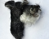 Needle Felted Miniature Schnauzer Dog Brooch