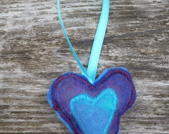 Hand Felted Heart Ornament