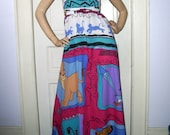 Lion King Maxi Sundress Simba Pumba Timon Festival Hippie Disney Wedding Long Dress Adult M L XL