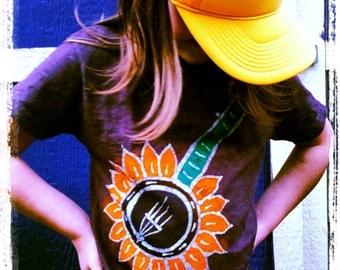 Batik sunflower banjo GREEN 4T