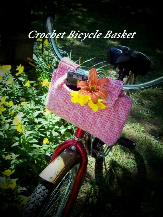 Pattern Directions for Making a Crochet Bicycle Basket Bag