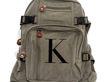 Backpack, Personalized Backpack, Canvas Backpack, Monogram Backpack, Typography, Women Backpack, Men Backpack, Personalized Groomsmen Gift
