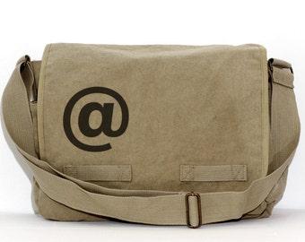 Messenger Bag @ At Symbol, Laptop Messenger Bag, Crossbody Large Canvas Bag, Men's Messenger Bag, Women's Messenger Bag