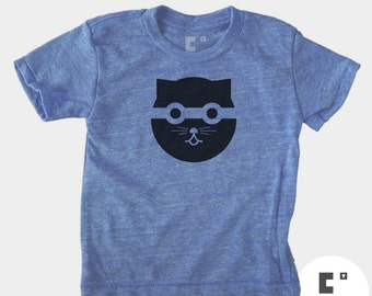 Boys Cat Tshirt, Boys Clothes, Bandit Watson the Cat, Modern Boys Clothing, Hipster, Infant Baby Boy Gift, Big Boys Clothes, Boys Tee