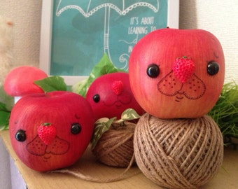 Sheepish Whimsy Apple Home Decor - Cute Art for your room