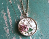 RESERVED Romance and Roses Art Pendant