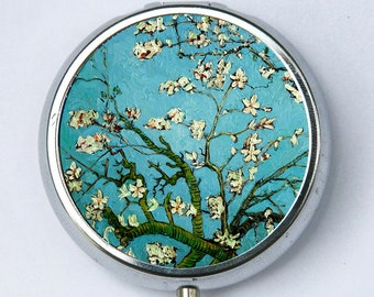 Almond Blossoms Pill case pillbox box holder fine art painting van Gogh