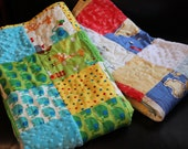 RESERVED Out to Sea and Jungle Jam Heirloom Baby Quilts