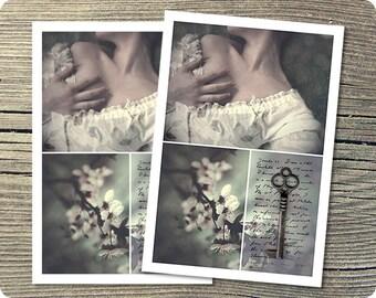 3 Wishes, 5x7 Postcard, Jane Austen Inspired Art