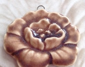 Gardenia Ceramic Pendant Handmade by Yolandas Clay