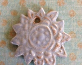 Powder Blue Hindi Sunflower Pendant from Stoneware Clay