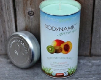 SALE: Green Tea Scented Recycled Tea Tin Candle