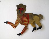 Striped Jumper Gibbon / Articulated Decoration  / Hinged Beasts Series