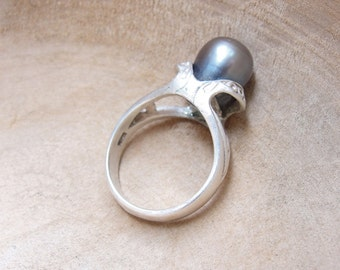 Sterling Silver Pearl Ring one of a kind size 7