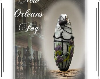 New Orleans Fog Halloween Lampwork Bead Tutorial Immediate PDF Download