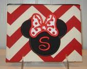 Minnie Mouse Appliqued Album 100 Photo size on Chevron