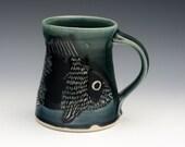 Large sheepshead mug in midnight blue 15 oz