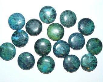 Chrysocolla Puffed Round Beads 25mm-  8 pcs