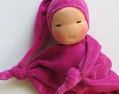 10 inch Waldorf Toy - Little Pink Sweetheart Blanket Doll - waldorf style doll - baby shower gift