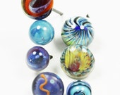 Sale 16 gage Lampwork Glass Head Pins A mixed set of 7 pieces