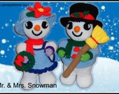 Snowman Couple Crochet Patterns, crochet pattern, amigurumi decoration, Christmas crochet patterns